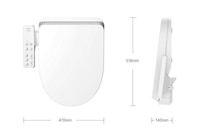 Размеры крышки для унитаза Xiaomi
