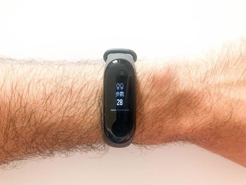Подсчет количества пройденных шагов в фитнес-браслете Xiaomi Mi band 3