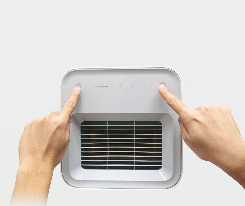 Включение режима сопряжения на мойке воздуха Xiaomi SmartMi Zhimi Air Humidifier 2