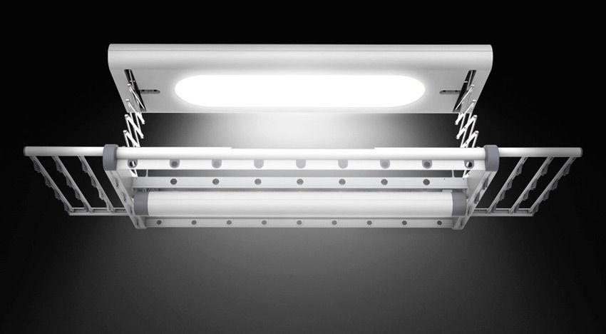 Сушилка для белья Xiaomi, освещение на балконе