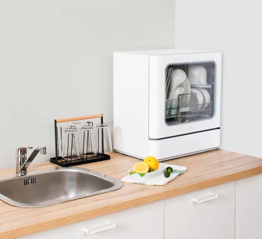 Компактность посудомойки xiaomi