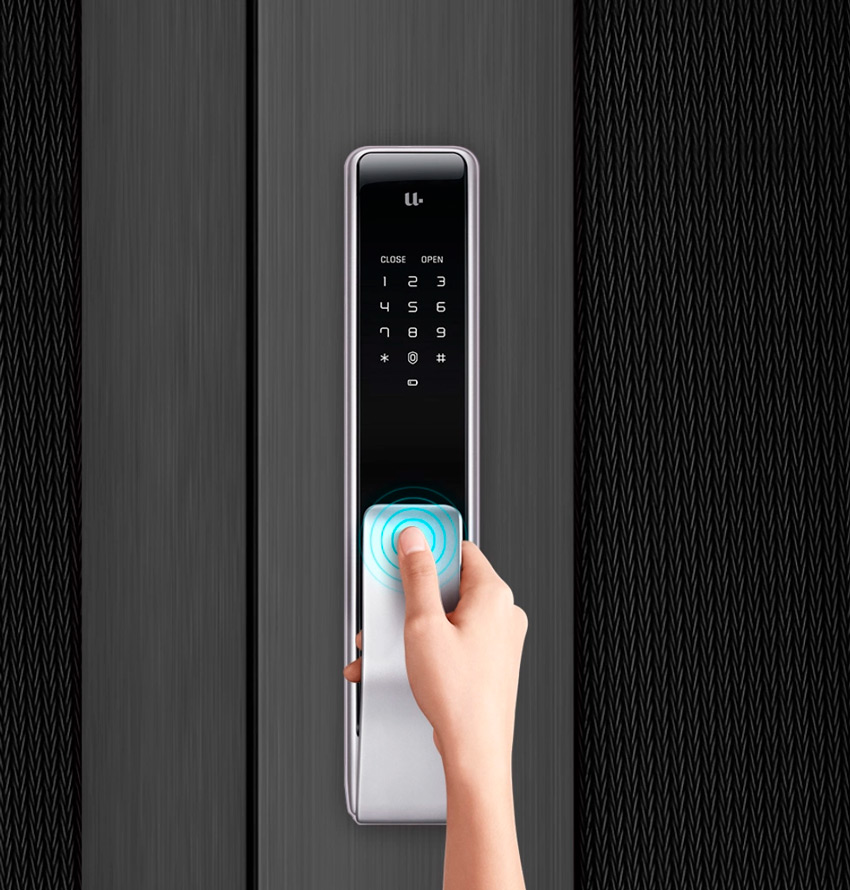 Открытие умного замка Xiaomi отпечатком пальца