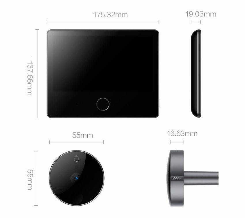 Размеры видеоглазка Xiaomi