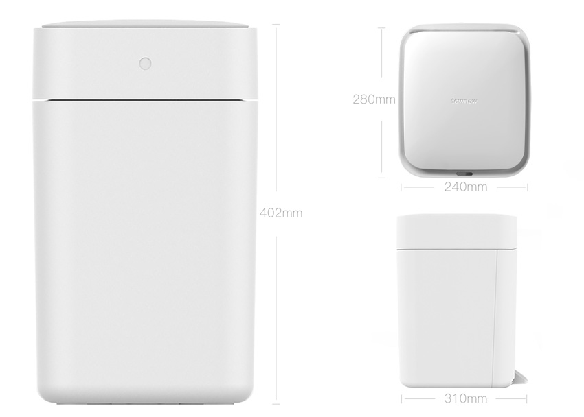 Размеры умного ведра Xiaomi Townew