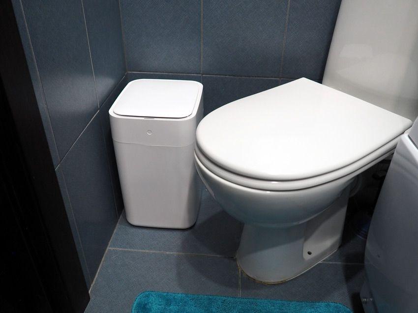 Умное ведро Xiaomi Townew T1 в ванной