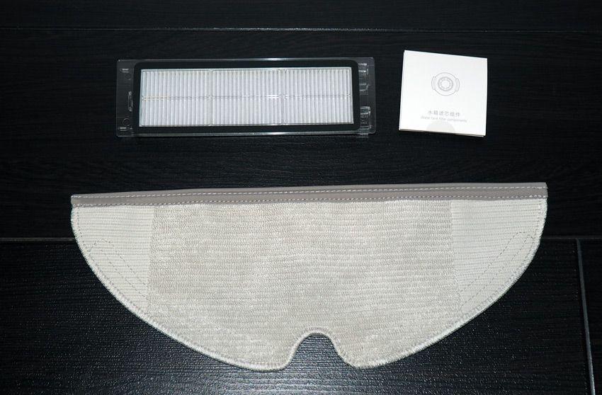 Запасные расходники в комплекте с роботом-пылесосом Xiaomi Roborock S50