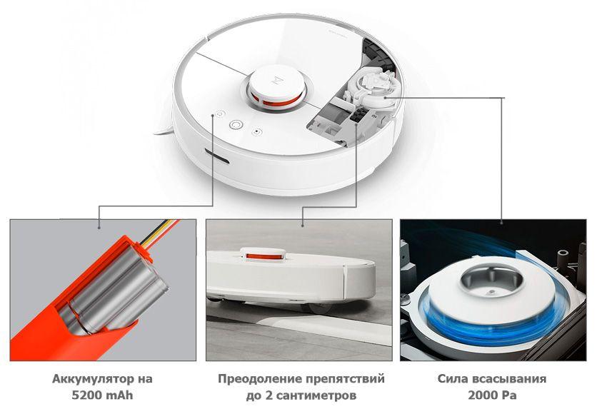 Преимущества робота пылесоса Xiaomi Roborock S 50