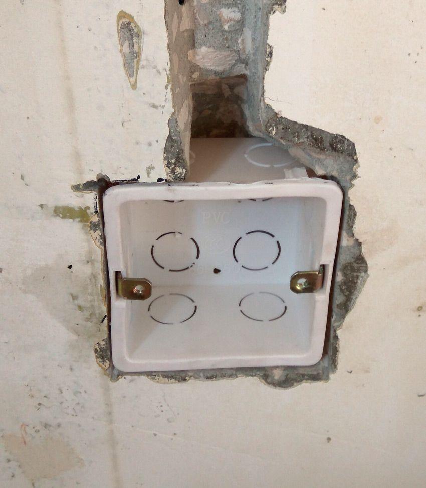 Монтаж квадратной коробки для выключателя Aqara