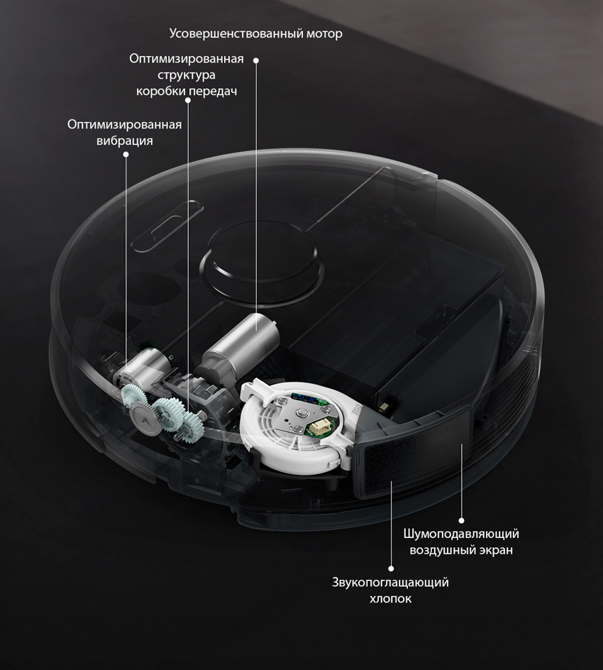 Усовершенствованная система шумоподавления в роботе-пылесосе Xiaomi Roborock t6