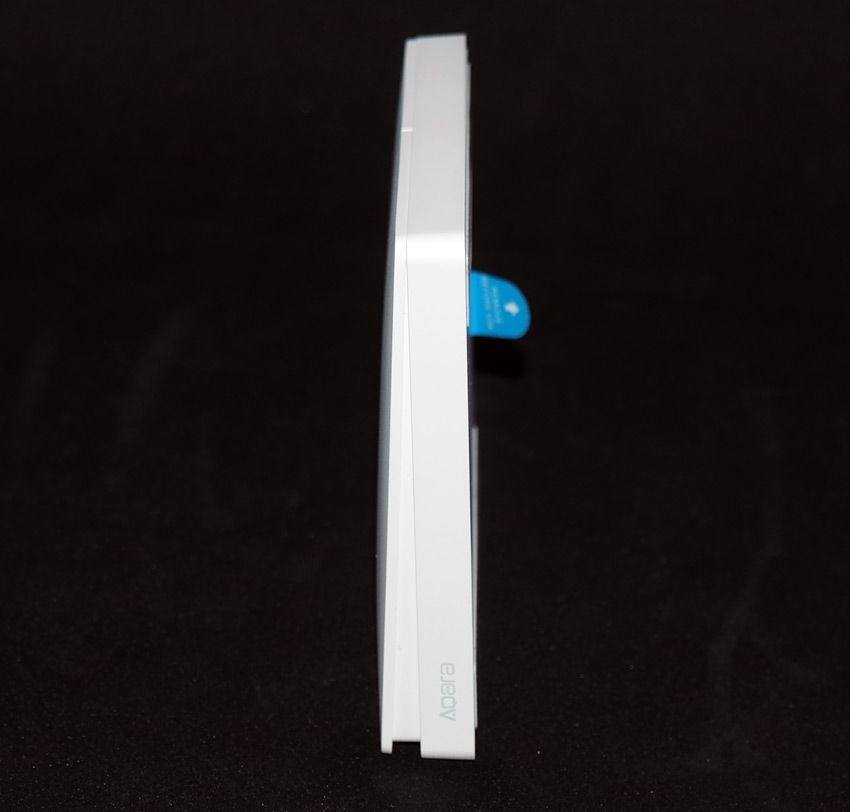 Вид сбоку на выключатель Xiaomi Aqara