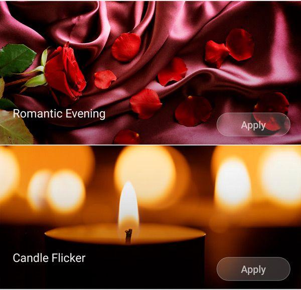 Романтические режимы в ночнике Xiaomi