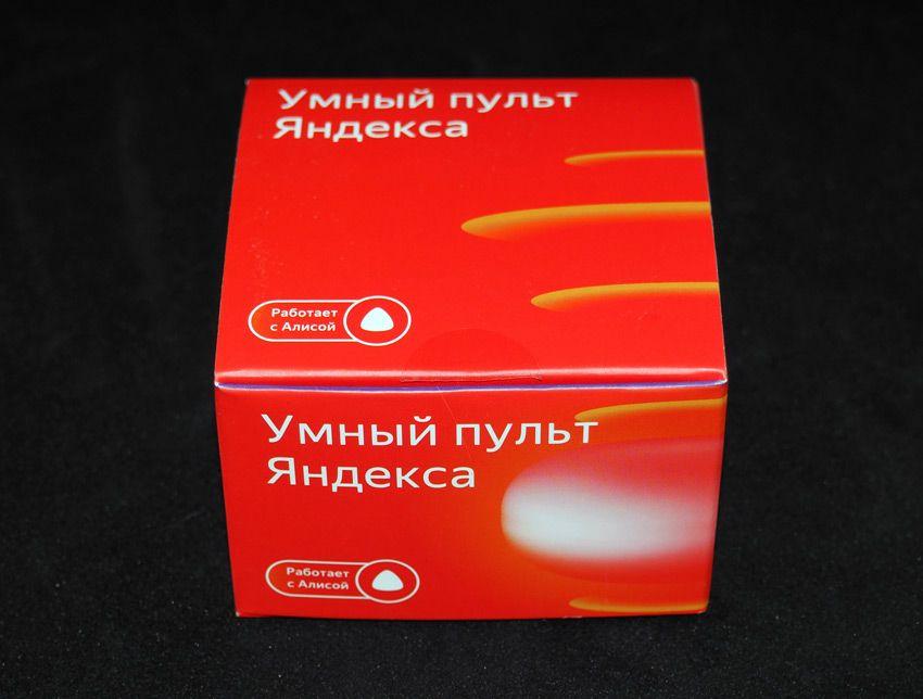 Коробка от умного пульта Яндекс