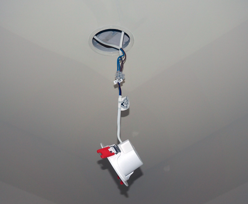 Установка точечного светильника Xiaomi