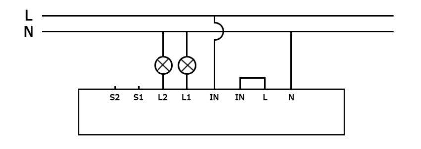 Схема подключения без выключателей