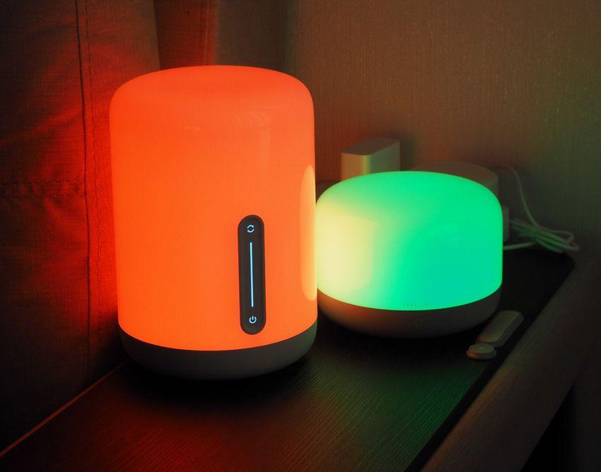 Яркие цвета ночников Xiaomi