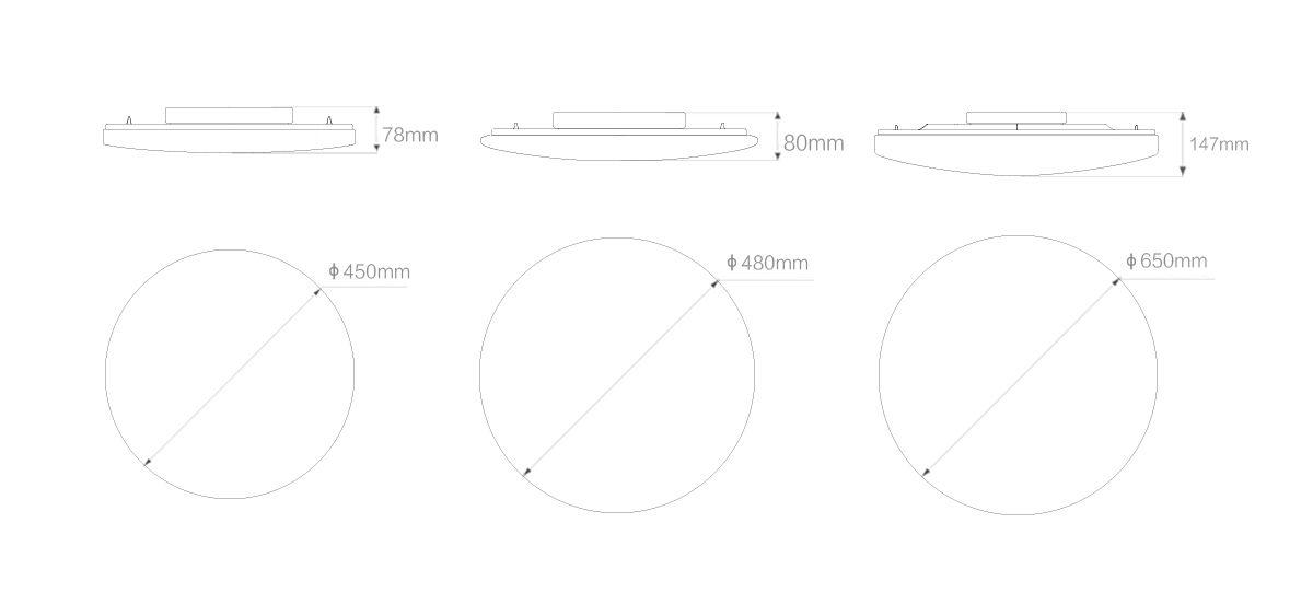 Габариты ламп Xiaomi
