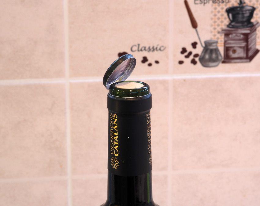 Снятие фольги с бутылки