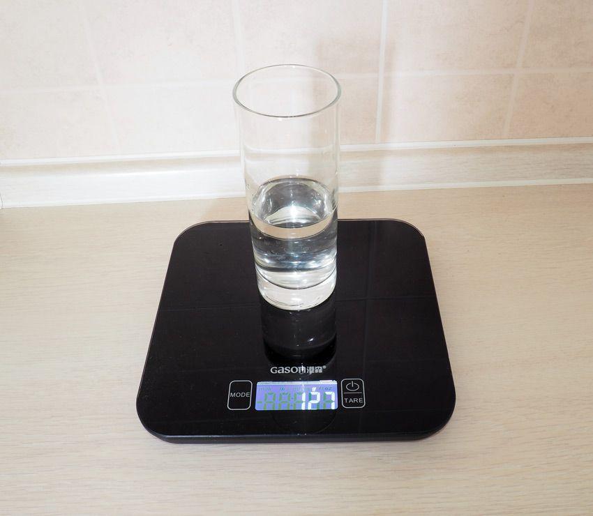Количество воды на барабане