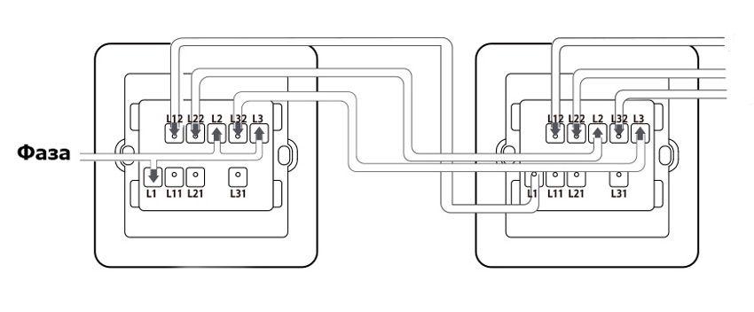 Схема проходного подключения