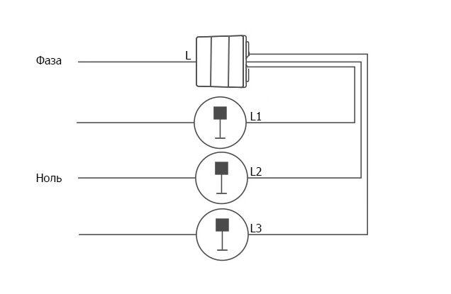 Подключение выключателя Aqara D1 без нулевой линии