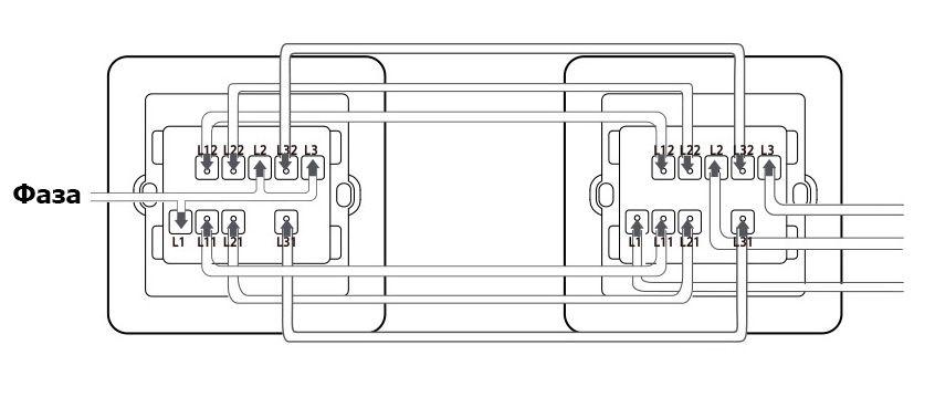 Схема подключения проходного выключателя Xiaomi