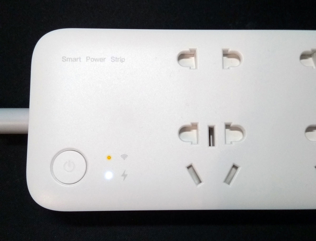 Xiaomi smart power strip индикация включения
